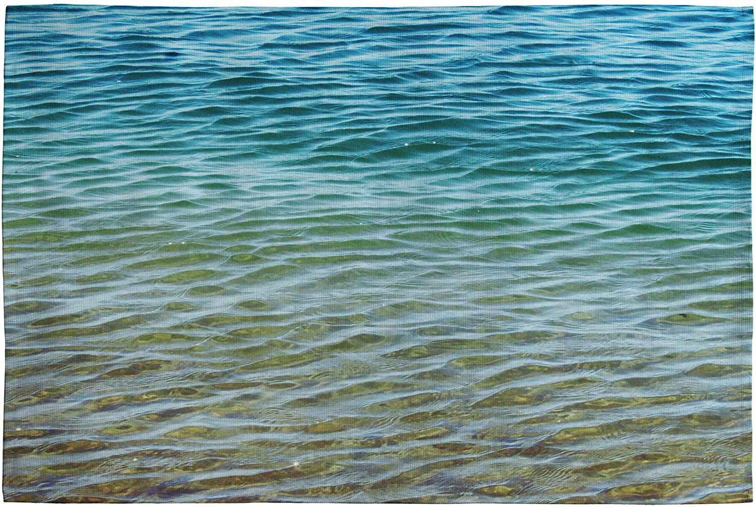 DENY Designs Shannon Clark Ombre Sea Woven Rug, 2 by 3Feet