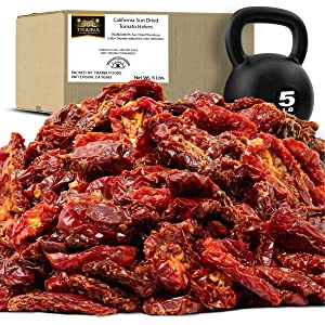 Traina Home Grown California Sun Dried Tomato Halves - Healthy, Non GMO, Gluten Free, Kosher Certified, Tomatoes are a low calorie food, Value Size (5 lbs)