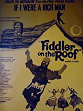 If I Were A Rich Man:  Sheet Music from Fiddler on the Roof, Piano, Vocal