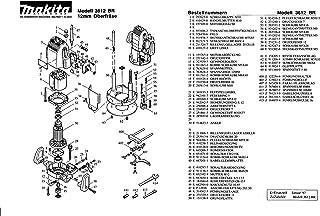 Makita 151158-9-8189 - Placa base de repuesto 3612 BR