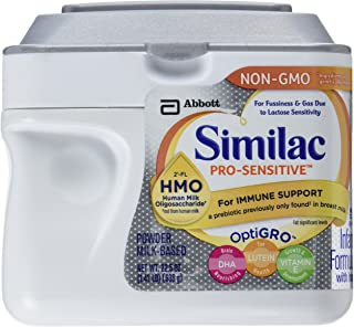 Similac Pro-Sensitive Infant Formula with 2'-FL Human Milk Oligosaccharide* (HMO) for Immune Support, 22.5 ounces