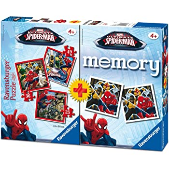 Ultimate Spider-Man Spiderman Pack Memory und Puzzle, 37.1 x 27.9 x 6.1 (Ravensburger 07359 7), Farbe/Modell Sortiert