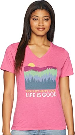 Happy Place Trees Cool Vee Tee