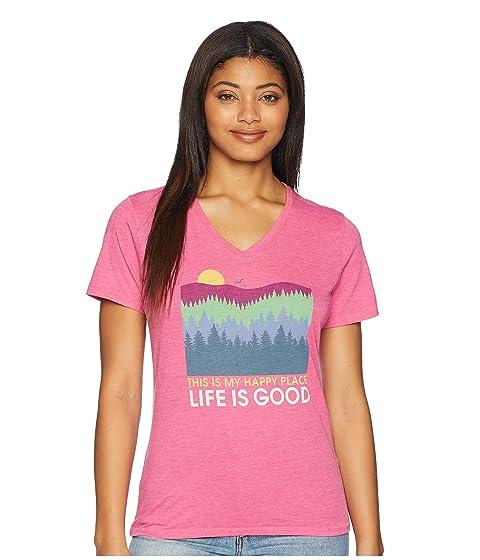 La Trees Place buena Happy Tee Cool vida es Vee Fiesta Rosa CwqPrnSCx