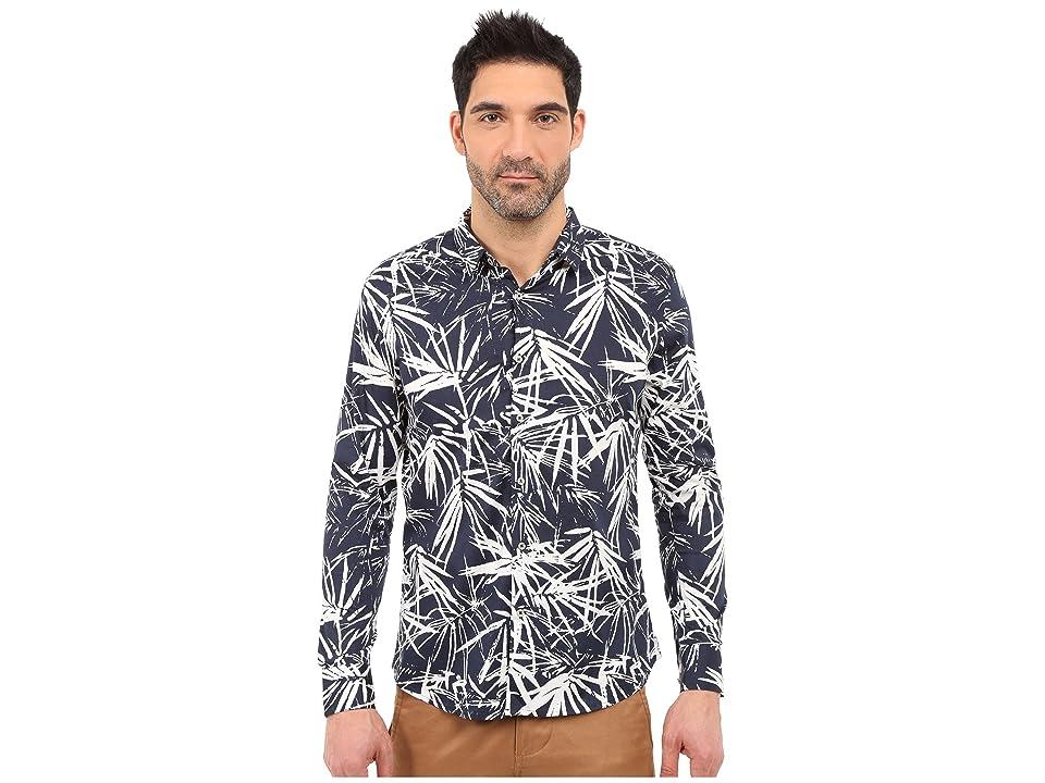 Image of 7 Diamonds Night Garden Long Sleeve Shirt (Navy) Men's Long Sleeve Button Up