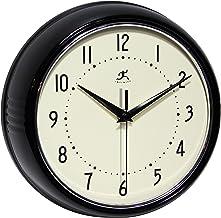 ساعة حائط دائرية ريترو من انفينتي إنسترومنتس سوداء