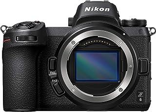 Nikon Z6 Kropp + FTZ-montering full ram spegellös kameraadapter, 24,5 MP CMOS FX 273 AF-poäng, 3,686k OLED-sökare Quad VGA...