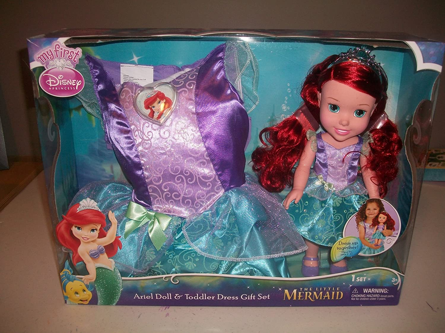 My First Disney Princess  Ariel Toddler Doll and Toddler Dress Gift Set