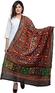 Banjara India Women's Cotton Dupatta Saree
