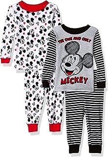 Disney Baby Boys Mickey Mouse Juego de Pijama de algodón de 4 Piezas