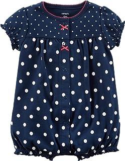 Carter's Baby Girls' Cotton 1-Piece Snap-up Romper (Newborn, Strawberry/Navy)
