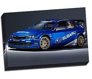Rally Car WRC Subaru Impreza WRX Canvas Art Print Póster 76,2 x 50,8 cm