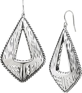 Silpada 'Taos' Etched Cut-Out Drop Earrings in Sterling Silver