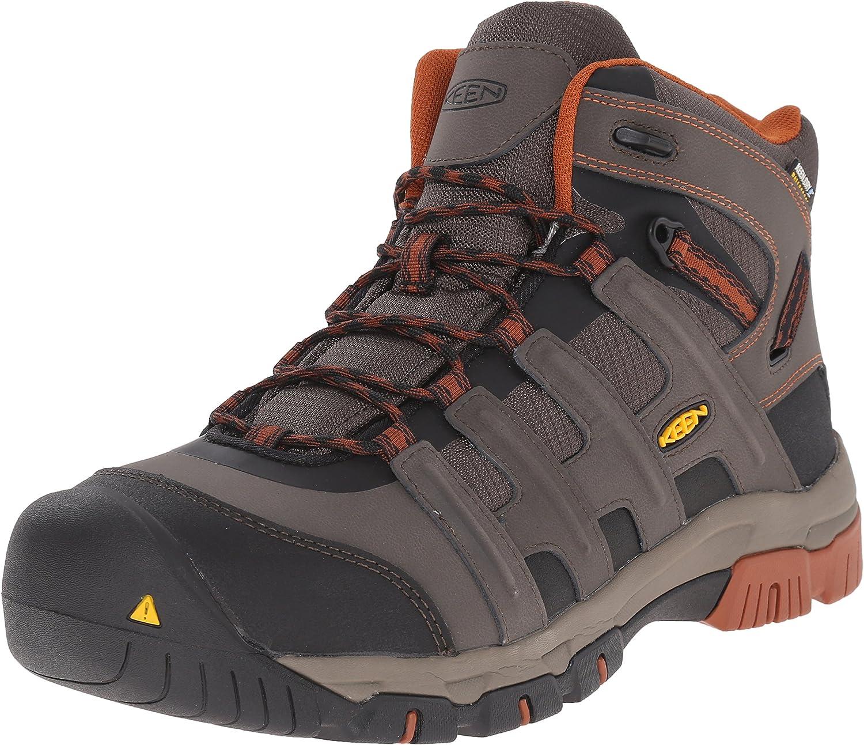 Keen Utility Men's Omaha Mid Waterproof Steel Toe Work Boot