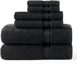 COTTON CRAFT Ultra Soft Luxury 6 Piece Ringspun Cotton Towel Set, 580GSM, Heavyweight, 2 Bath Towels, 2 Hand Towels, 2 Was...