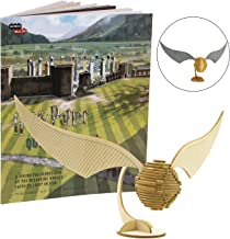 Harry Potter Golden Snitch Book and 3D Wood Model Figure Kit - Build, Paint and Collect Your Own Wooden Toy Model - Kids and Adults, 8+ - 8