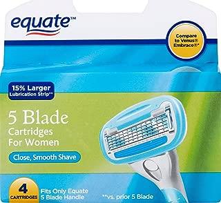 Equate 5-Blade Razor Cartridges - Compare to Venus Embrace (Pack of 4 Cartridges)