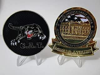 US Secret Service Counter Assault Team C.A.T & POTUS Donald Trump MAGA Challenge Coin Set