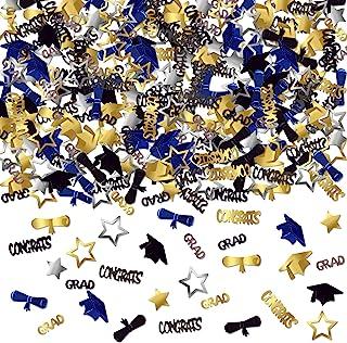 (Black, Gold, Silver, Blue) - CONFETTI FOR GRADUATION PARTY SUPPLIES - 40ml Perfect Graduation Decoration for Grad Party G...