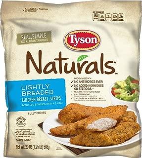 Tyson Naturals Lightly Breaded Chicken Strips, 20 oz. (Frozen)