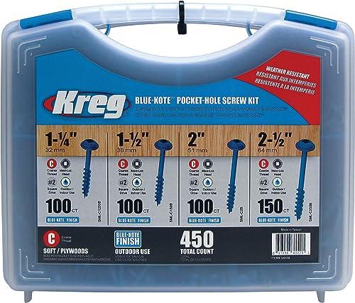 wholesale KREG sale SK03B discount Blue-Kote Pocket-Hole Screw Kit sale