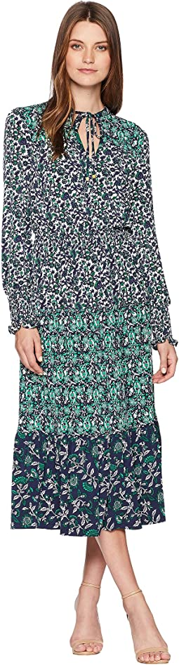Three Print Ellip Dress