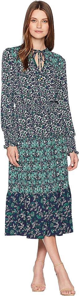 Three Print Ellip Dress