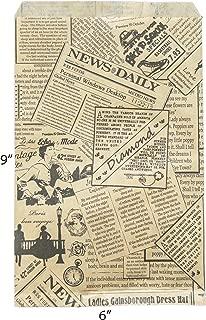 Novel Box® Newsprint Kraft Print Paper Gift Candy Jewelry Merchandise Bag Bundle 6X9