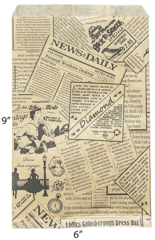 Novel Box? Newsprint Kraft Print Paper Gift Candy Jewelry Merchandise Bag Bundle 6X9