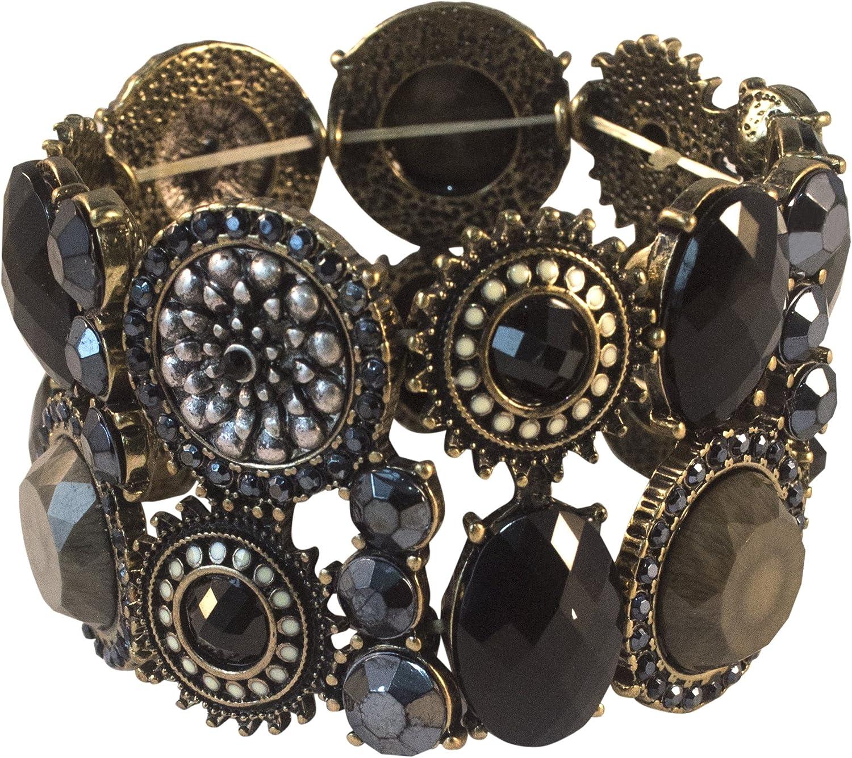 Designer Retro Colorado Springs Mall Selling Black Brown Chuncky Bracele Made Cuff Hand Bangle