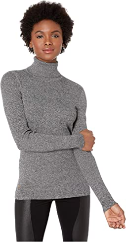 Marled-Knit Turtleneck Sweater