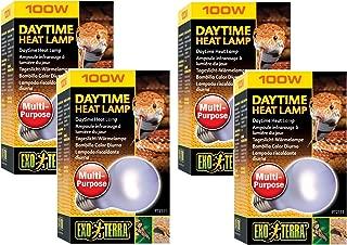 (4 Pack) Exo Terra Sun-Glo Neodymium Heat Lamp, 100 Watt