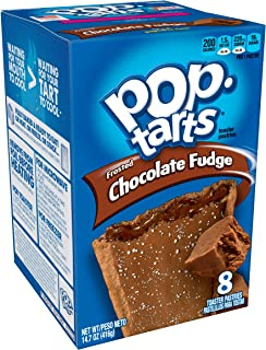 Pop-Tarts BreakfastToaster Pastries, Frosted Chocolate Fudge Flavored, Bulk Size, 96 Count (Pack of 12, 14.7 oz Boxes)