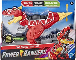 Power Rangers Dino Charge T-Rex Zord Toy Inspired by Special Beast Morphers Episode Red Action Figure Jumps Chomps Head Mo...