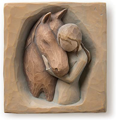 Willow Tree Quiet Strength Plaque, Sculpted Hand-Painted bas Relief