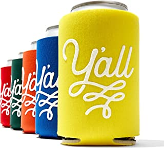 Y'all Texas Party Beverage Insulator in Five Colors Can Sleeve Insulator Texas Gift
