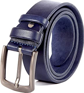 Heavy Duty Leather Belt - 100% Thick Solid Cow Leather. Durable and strong.