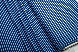 Mollipolli Jersey Little Darling - Tela (0,5 m), diseño de Rayas, Color Azul Oscuro