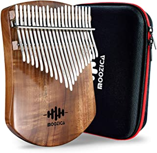 MOOZICA 21 touches koa massif Kalimba, planche en bois massif simple Kalimba Thumb Piano Marimba professionnel avec instru...