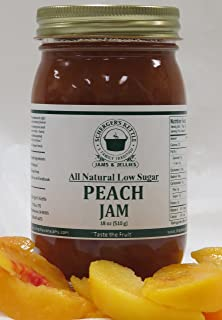 Peach Jam, All Natural/Low Sugar, 18 oz