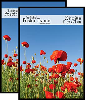 MCS Original Poster Frame, 20 by 28-Inch, Black, 2-Pack