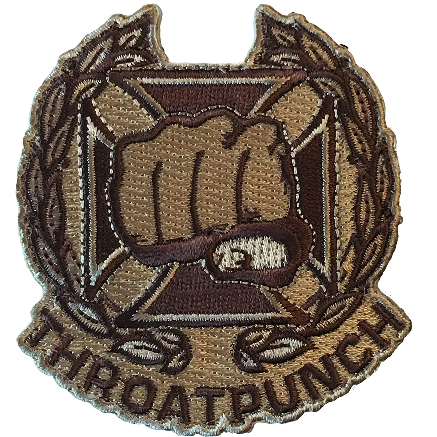 Throat Punch Qualification Badge - Embroidered Morale Patch (Arid Desert)
