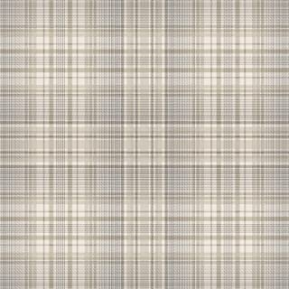 Norwall AF37721 Check Plaid Pre-Pasted Wallpaper, Beige, Coffee, Sepia, Grey, Dove