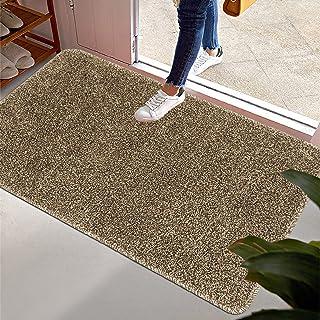 """HEBE Indoor Outdoor Doormat 32""""x48"""" Soft Absorbent Inside Door Mat Front Door Rug Low Profile Entrance Rug Non Slip Welcom..."""
