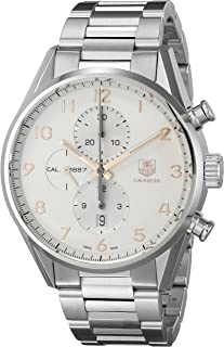Men's 'Carrera' Silver Dial Stainless Steel Automatic Watch CAR2012.BA0799