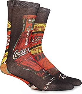 Homme 1 paire coca cola graffiti bouteille imprimé chaussettes