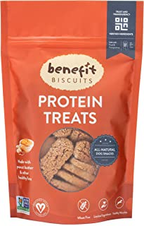 Benefit Biscuits, All Natural Dog Biscuits, Certified Vegan and Wheat Free Crunchy Dog Treats Include Peanut Butter, Pumpkin, or Fresh Mint | Healthy Dog Snacks Made in USA