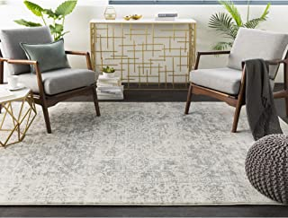 """Janine Gray and Beige Updated Traditional Area Rug 5'3"""" x 7'3"""
