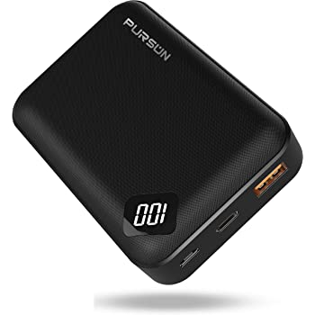 2020 Updated Ultra Compact 10000mAh PD Power Bank, Dual USB A and USB C Ports with Quick Charge 3.0 Technology, Portable Charger with Digital Screen for iPhone, iPad, Samsung, Google Pixel and More