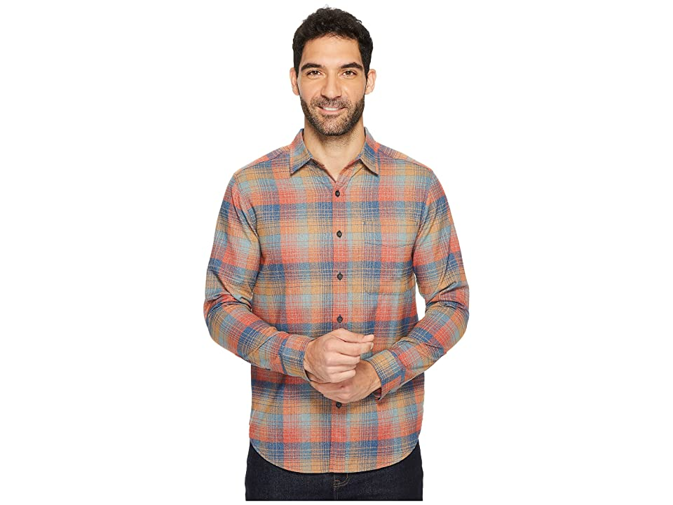 Royal Robbins Vintage Performance Flannel Plaid Long Sleeve Shirt (Poseidon) Men